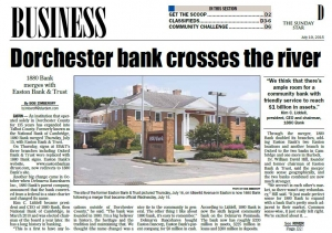 1880 Bank Crosses River- Article