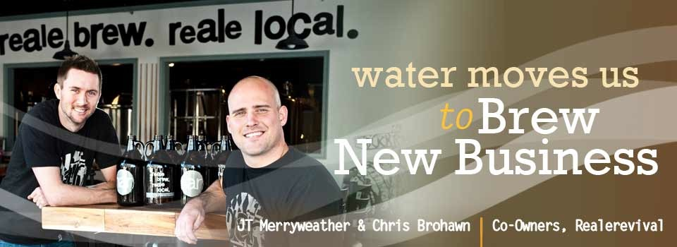 Choptank created Dorchester County Economic Development's 'Water Moves Us' campaign featuring entrepreneurs and brewery co-owners Chris Brohawn and JT Merryweather.